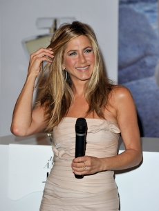 "Jennifer Aniston attends the launch of her debut fragrance ""Lolavie"" at Harrods in London on July 21, 2010"