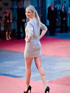 "Cameron Diaz attends the UK premiere of ""Knight And Day"" at the Odeon Leicester Square, London, July 22, 2010"