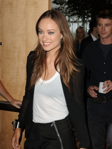 "Olivia Wilde attends the ""Tron: Legacy"" panel during Comic-Con International at the San Diego Convention Center in San Diego, Calif., on July 22, 2010"