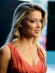 Amber Heard gives an interview in the MySpace & MTV Tower during Comic-Con International in San Diego, Calif., on July 23, 2010