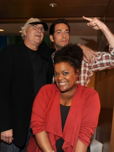 &#8220;Community&#8221; stars Chevy Chase and Yvette Nicole Brown join &#8220;Chuck&#8221; star Zachary Levi at the NBC rooftop party during Comic-Con 2010 at the Omni Hotel on July 23, 2010 in San Diego, Calif.