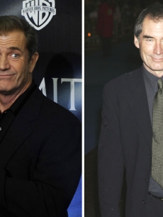 Mel Gibson and Timothy Dalton