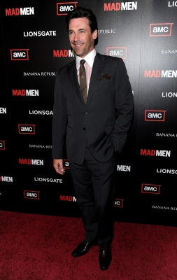 Jon Hamm arrives to the season 4 premiere of AMC's 'Mad Men' on July 20, 2010 in Hollywood, California.