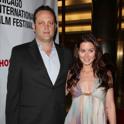 Vince Vaughn and Kyla Weber attend the Chicago International Film Festival at the Museum of Science and Industry, Chicago, June 12, 2010