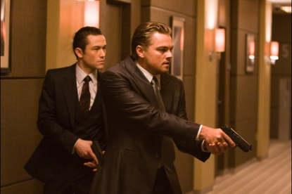 "Joseph Gordon-Levitt and Leonardo DiCaprio in ""Inception"""