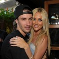 "Josh Hansen and Stephanie Pratt attend MTV's ""The Hills Live: A Hollywood Ending"" finale event held at The Roosevelt Hotel in Hollywood, California on July 13, 2010"