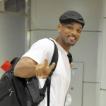 Will Smith arrives at Narita International Airport in Narita, Japan on August 3, 2010