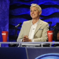 Ellen DeGeneres at the 'American Idol' judges' table