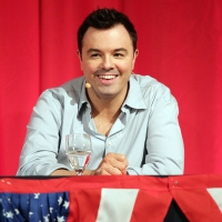Seth MacFarlane speaks onstage during the &#8220;American Dad!&#8221; panel for the FOX portion of the summer Television Critics Association press tour at the Beverly Hilton Hotel on August 2, 2010