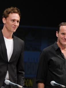 "Tom Hiddleston and Clark Gregg attend Marvel Studios' ""Thor"" panel discussion during Comic-Con 2010 at San Diego Convention Center in San Diego, Calif., on July 24, 2010"