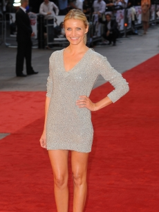 "Cameron Diaz attends the UK premiere of ""Knight and Day"" at Odeon Leicester Square on July 22, 2010 in London, England"