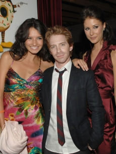 Co-stars Alice Greczyn, Seth Green and Amanda Crew attend the after party following the premiere of &#8220;Sex Drive&#8221; in Westwood, Calif., on October 15, 2008