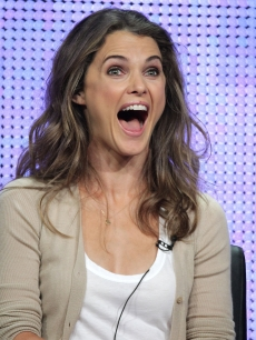 "Keri Russell speaks onstage during the ""Running Wilde"" panel for the FOX portion of the summer Television Critics Association press tour at the Beverly Hilton Hotel in Beverly Hills, California on August 2, 2010"