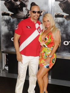 "Ice-T and Coco attend the New York premiere of ""The Other Guys"" at the Ziegfeld Theatre, NYC, August 2, 2010"