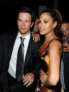 "Mark Wahlberg and Eva Mendes at the after party for the New York premiere of ""The Other Guys"" at The Park in New York City on August 2, 2010"