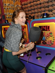 Jayma Mays attends the FOX 2010 summer Television Critics Association all-star party held at Pacific Park on the Santa Monica Pier in Santa Monica, California on August 2, 2010