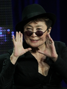 "Yoko Ono of television show ""Lennon NYC"" speaks during the PBS portion of the 2010 Summer TCA Press Tour at the Beverly Hilton Hotel in Beverly Hills, California on August 5, 2010"