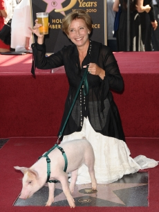 Emma Thompson receives a star on the Hollywood Walk of Fame  in Hollywood, California on August 6, 2010