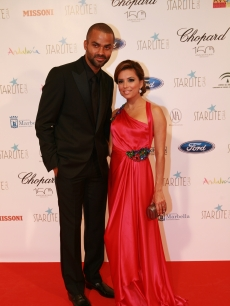 Tony Parker and Eva Longoria Parker attend Starlite Gala in Benahavis, Spain, August 7, 2010