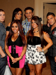 &#8220;Jersey Shore&#8221; cast members Sammi &#8220;Sweetheart&#8221; Giancola, Vinny Guadagnino, Nicole &#8220;Snooki&#8221; Polizzi, Jenni &#8220;Jwoww&#8221; Farley, Pauly &#8220;Pauly D&#8221; Del Vecchio, Deena Nicole Cortese, Ronnie &#8220;Fist Pump Brah&#8221; Magro and Michael &#8220;The Situation&#8221; Sorrentino are seen during the MTV Networks Summer TCA Tour held at The Beverly Hilton Hotel, LA, August 6, 2010