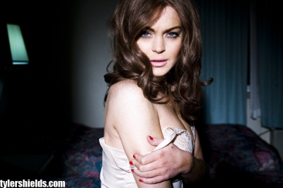 "Lindsay Lohan in a promotional picture for ""Inferno: A Linda Lovelace Story,"" shot by photographer Tyler Shields"