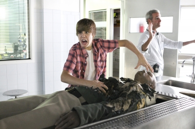 Justin Bieber makes his acting debut on CSI Crime Scene Investigation in Los Angeles on August 4, 2010