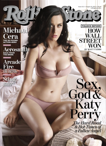 Katy Perry on the cover of Rolling Stone magazine, August 2010
