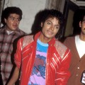 Michael Jackson on set of his video 'Beat It' in downtown Los Angeles