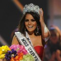Miss Mexico Jimena Navarrete celebrates after being crowned Miss Universe during the Miss Universe 2010 Pageant Final at the Mandalay Bay Hotel in Las Vegas on August 23, 2010