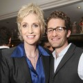 Jane Lynch and Matthew Morrison at an Audi event celebrating Emmy nominees at Cecconi's in Los Angeles, on August 22, 2010