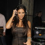 Kim Kardashian shows off her DJ skills at Lavo in Las Vegas, Nev., on August 13, 2010