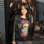 "Michelle Rodriguez arrives at the Los Angeles screening of ""Machete"" at Orpheum Theatre in Los Angeles on August 25, 2010"