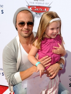 Joey Lawrence and his daughter, Charleston, attend DisneyPixar's World of Cars Online launch party at Bob's Big Boy in Burbank, Calif., on August 11, 2010