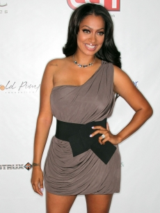 LaLa Vazquez attends the 10th annual Harold Pump Foundation Gala at the Hyatt Regency Century Plaza Hotel in Century City, Calif., on August 12, 2010