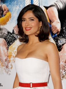 Salma Hayek attends the premiere of 'Grown Ups' at the Ziegfeld Theatre on June 23, 2010 in New York City.