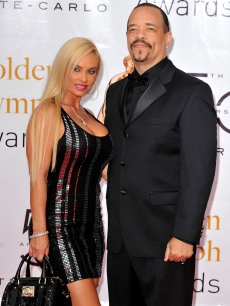 Ice-T and wife Coco arrive at the Closing Ceremony of the 2010 Monte Carlo Television Festival held at Grimaldi Forum in Monte-Carlo, Monaco, on June 10, 2010