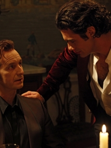 "Denis O'Hare and Theo Alexander as Russell Edgington and Talbot on HBO's ""True Blood,"" Season 3, 2010"