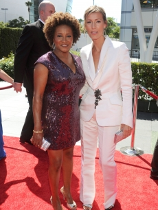 Wanda Sykes and Alex Sykes arrive at 62nd Primetime Creative Arts Emmy Awards at the Nokia Theatre L.A. Live on August 21, 2010 in Los Angeles, California