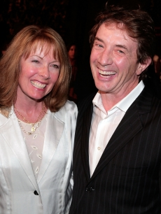 "Nancy Dolman and Martin Short arrive at the special screening for DreamWorks Pictures' ""Sweeney Todd"" held at the Paramount Theater, LA, December 5, 2007"