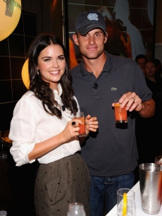 Katie Lee and Andy Roddick attend the 11th annual BNP Paribas Taste Of Tennis at the W New York in New York City on August 26, 2010