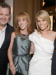 Eric Stonestreet, Kathy Griffin, Cheryl Hines and Jesse Tyler Ferguson attend Audi Celebrates the 2010 Emmy Awards at Cecconi's Restaurant on August 22, 2010 in Los Angeles, Calif.