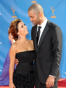 Eva Longoria Parker and Tony Parker arrive at the 62nd Annual Primetime Emmy Awards held at the Nokia Theatre L.A. Live in Los Angeles on August 29, 2010