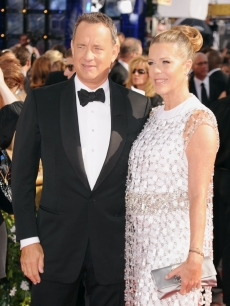 Tom Hanks and Rita Wilson arrive at the 62nd Annual Primetime Emmy Awards held at the Nokia Theatre L.A. Live, Los Angeles, August 29, 2010