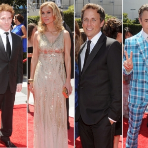 Seth Green, Elizabeth Mitchell, Seth Meyers &amp; Alan Cummings Hit The 2010 Creative Arts Emmy Awards