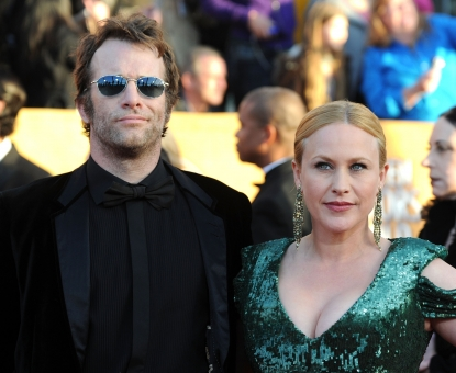 Thomas Jane and Patricia Arquette arrive at the 16th Annual Screen Actors Guild Awards held at the Shrine Auditorium, Los Angeles, January 23, 2010