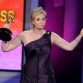 Jane Lynch accepts the Outstanding Supporting Actress in a Comedy Series award onstage at the 62nd Annual Primetime Emmy Awards held at the Nokia Theatre L.A. Live on August 29, 2010 in Los Angeles