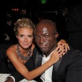 Heidi Klum and husband Seal attend the Fox Broadcasting Company, Twentieth Century Fox Television and FX 2010 Emmy Nominee Party held at Cicada, Los Angeles, August 29, 2010