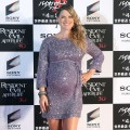 "A pregnant Ali Larter glows on the red carpet during the world premiere of ""Resident Evil: Afterlife"" at Roppongi Hills on September 2, 2010 in Tokyo, Japan"