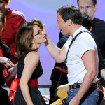 Tina Fey and host Jimmy Fallon perform onstage at the 62nd Annual Primetime Emmy Awards