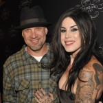 Jesse James and Kat Von D attend the opening of Kat Von D&#8217;s &#8220;Wonderland&#8221; gallery in West Hollywood on September 2, 2010